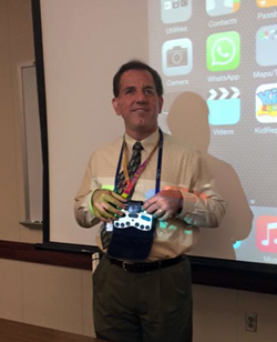 Photo of Larry Lewis delivering the webinar 'iOS in the Classroom: iPad Learning Success for Students with Vision Loss' for $49.00 USD - AFB Press Store - American Foundation for the Blind