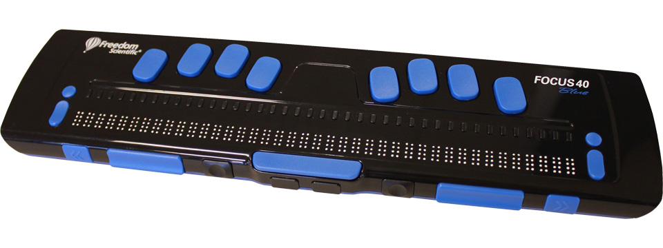 Photo of the Focus 40 Blue Refreshable Braille Display for $1,795.00 USD - Flying Blind, LLC Online Store