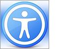 MacForTheBlind.com logo.