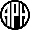 American Printing House (APH) logo.