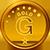 Ornate Gold Medallion.